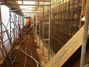 HCM Shotcrete - Typical wall setup – winter construction