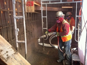 HCM Shotcrete - Shotcrete is applied in two lifts – scratch coat and finish coat