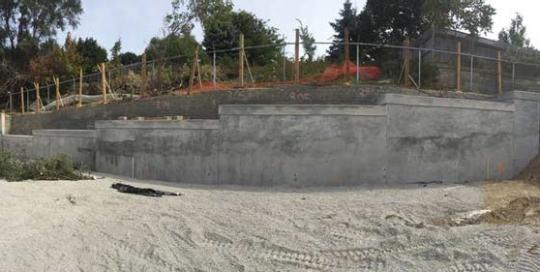 HCM Shotcrete - VW Autohaus Permanent Retaining Wall