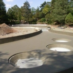 Royal Botanic Gardens - Finished shotcrete pool structure complete with CN 2000 waterproofing coating