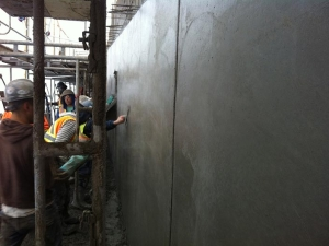 HCM Shotcrete - Steel trowel finish